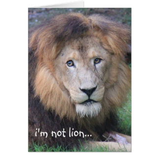Funny Lion Birthday Card