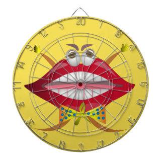 Funny Lips dart board