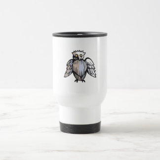 Funny Little Antique Style Owl Drawing Mug