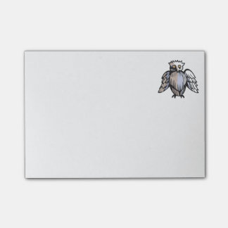 Funny Little Antique Style Owl Drawing Post-it Notes