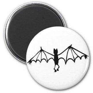 Funny Little Bat 6 Cm Round Magnet