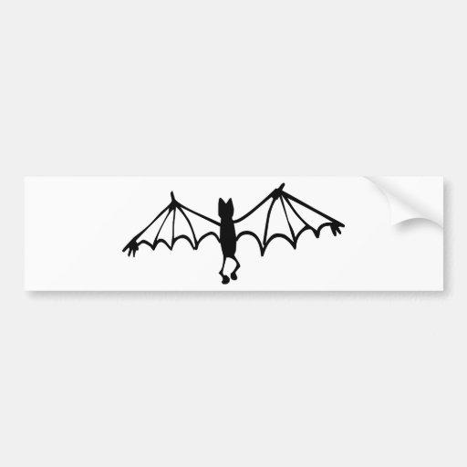 Funny Little Bat Bumper Sticker