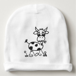 Funny Little Cow - cap knows Baby Beanie