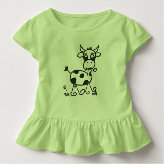 Funny Little Cow - frills shirt colored