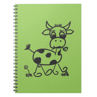 Funny Little Cow - note pad lines Notebooks