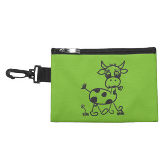 Funny Little Cow - tie-clip on cultural bag Accessories Bag