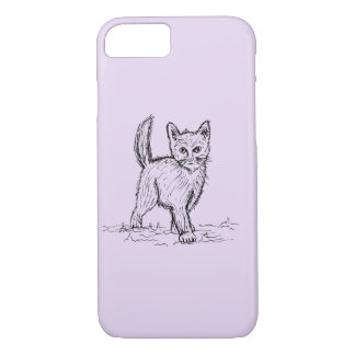 Funny Little Cute Cat Drawing iPhone 8/7 Case