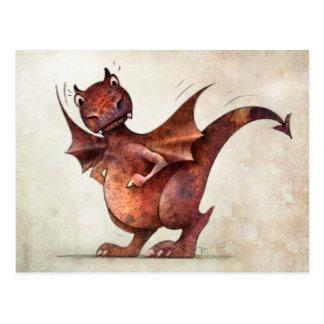 Funny Little Dragon Postcard