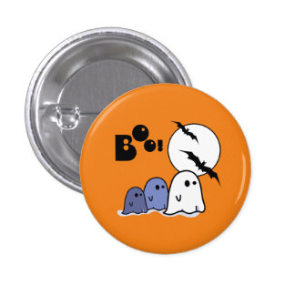 Funny Little Ghosts. Halloween Gift Buttons