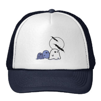 Funny Little Ghosts. Halloween Hats