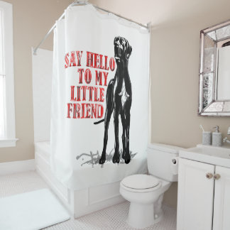 Funny Little Great Dane Shower Curtain