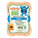 Funny Little Monster Birthday Party 13 Cm X 18 Cm Invitation Card