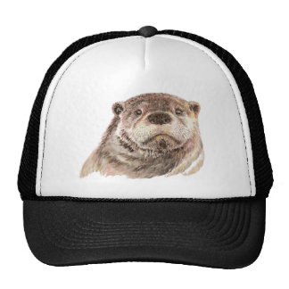 Funny Little Otter, Cute Animal Nature Cap