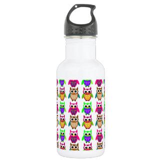 funny little owls 532 ml water bottle