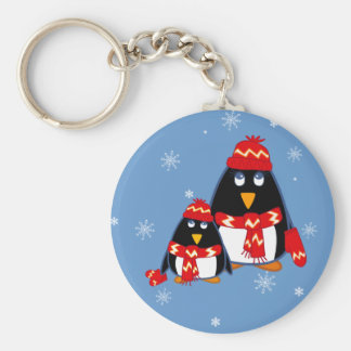 Funny Little Penguins Christmas Gift  Keychains