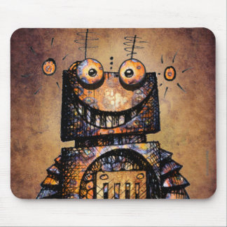 Funny Little Robot Mouse Mat