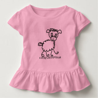 Funny Little Sheep - frills shirt colored