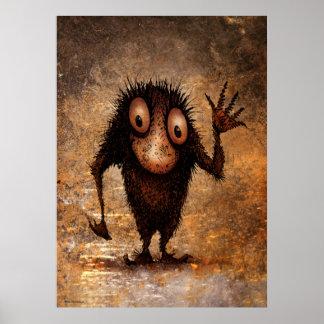 Funny Little Troll Poster