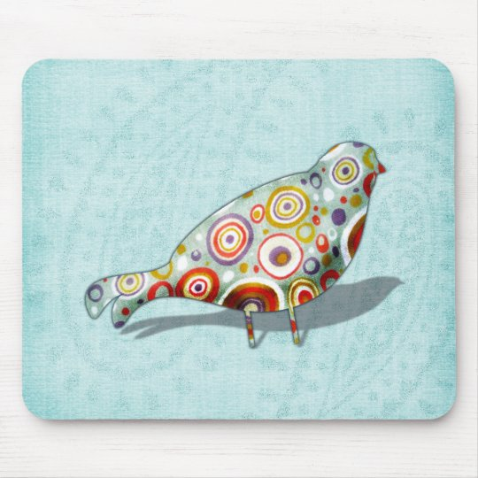 Funny Little Whimsical  Bird Mouse Pad
