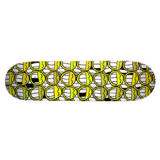 Funny Little Yellow Smiley Faces Pattern 20 Cm Skateboard Deck