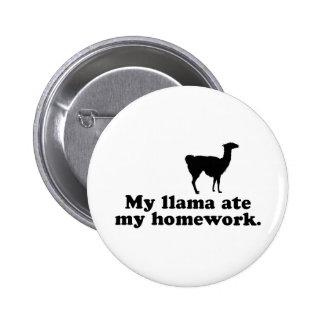 Funny Llama 6 Cm Round Badge