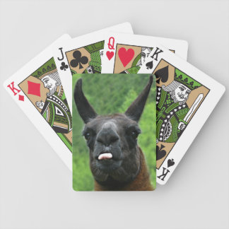 Funny Llama Attitude - Sticking out Tongue at You Bicycle Playing Cards