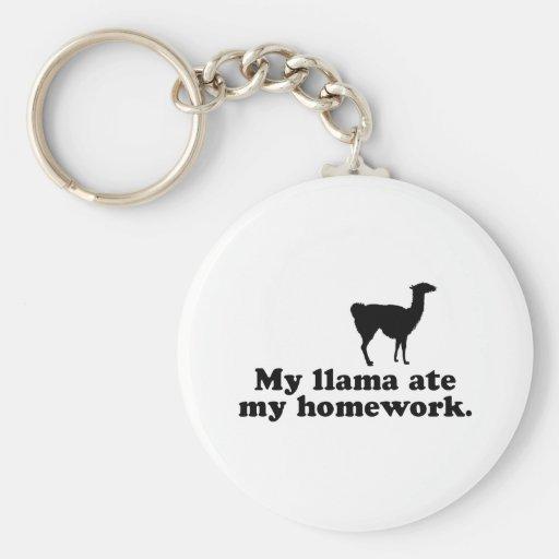 Funny Llama Keychain