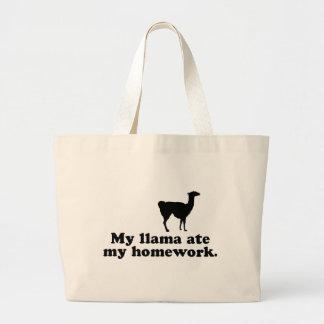 Funny Llama Large Tote Bag