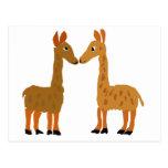 Funny Llama Love Primitive Art