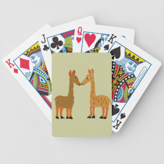Funny Llama Love Primitive Art Bicycle Playing Cards
