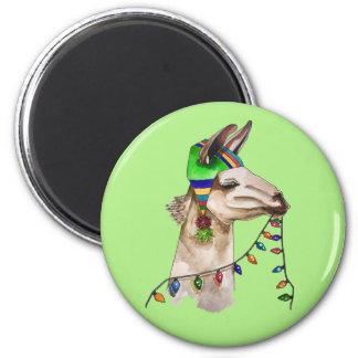 funny llama magnet