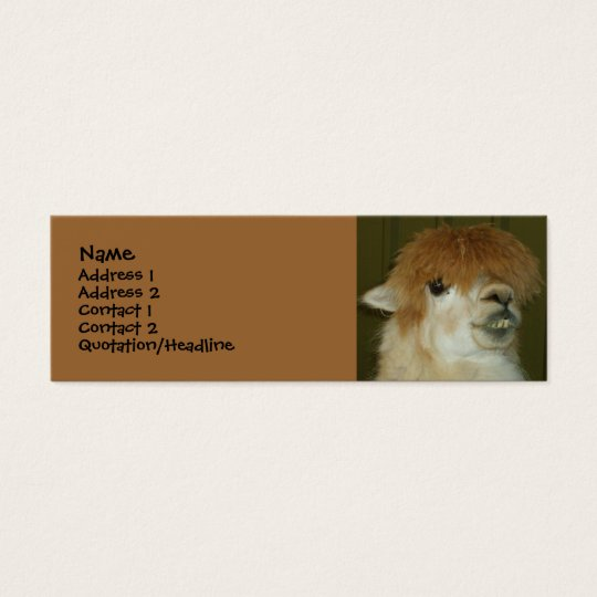 Funny Llama Mini Business Card