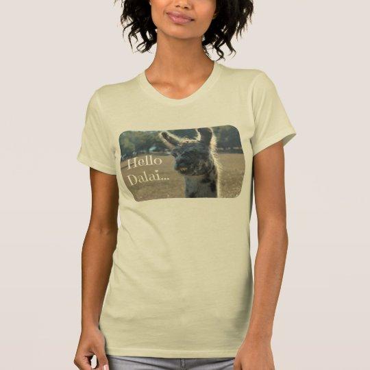 Funny Llama Shirt, Hello Dalai (Dalai LLAMA!) T-Shirt