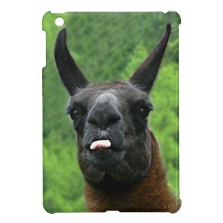 Funny Llama with Tongue Sticking Out Photo iPad Mini Cases