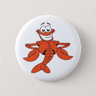 Funny Lobster 6 Cm Round Badge