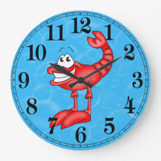Funny Lobster Fish Wall Clock