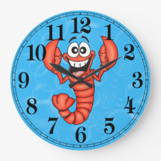 Funny Lobster Wall Clock