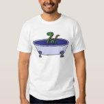 Funny Loch Ness Monster in Bathtub Tee Shirts