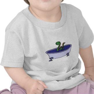 Funny Loch Ness Monster in Bathtub T Shirt