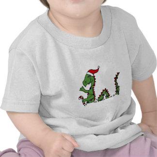 Funny Loch Ness Monster in Santa Hat Christmas T Shirt