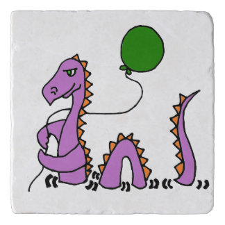 Funny Loch Ness Monster with Balloon Trivet