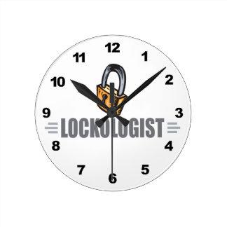 Funny Locksmith Round Clock