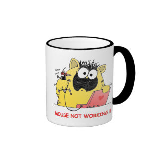 Funny LOL Cat and Mouse Ringer Mug
