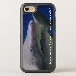 Funny LOL Great White Shark Monogram OtterBox Symmetry iPhone 7 Case