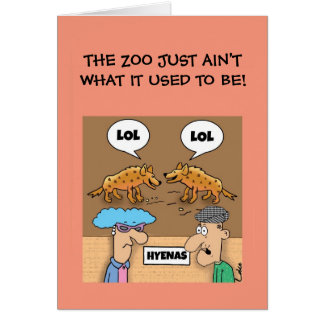 Funny LOL @ The Zoo customised Greetings Card