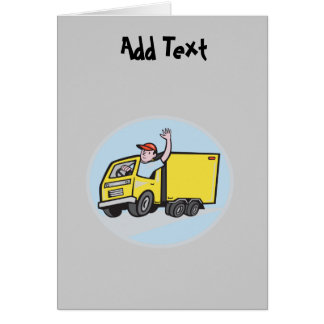 Funny Lorry Truck Driver cartoon personalized Card