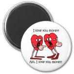 Funny love 6 cm round magnet