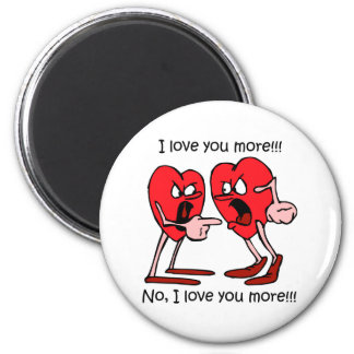 Funny love 6 cm round magnet
