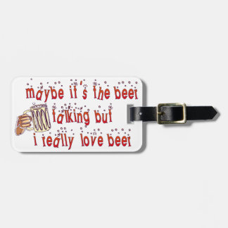 Funny Love Beer Luggage Tag