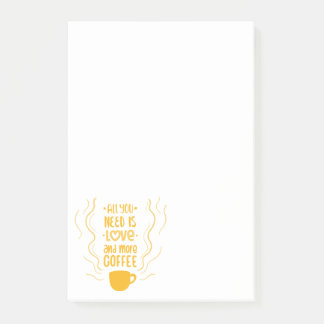 Funny Love & Coffee Lovers Saying Quote Post-it Notes